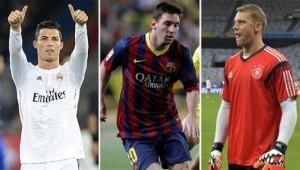 Cristiano, Messi y Neuer